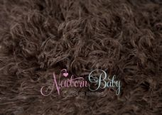 Chocolate Brown CRINKLY LONG Pile Fur ~ 3 sizes
